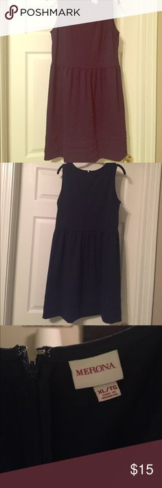 Merona Target Navy Fit Flare Dress XL Worn once, fit and flare style dress in navy blue by Merona. Merona Dresses