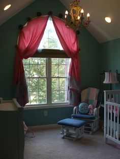 keep the light out of the nursery from the half moon window!