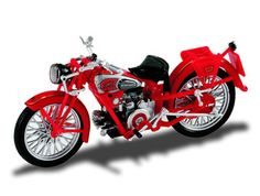 Starline 1:24 Moto Guzzi Airone Diecast Model Motorcycle 99008 This Moto Guzzi Airone 250 Diecast Model Motorcycle is Red and has working stand, wheels and also comes in a display case. It is made by Starline and is 1:24 scale (approx. 8cm / 3.1in long).    #Starline #ModelMotorbike #MotoGuzzi