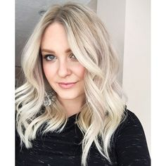 @jamiefeliz looks INCREDIBLE with her new hair - color by @kaylita_marie using #Wella #Koleston 9/8+8/2+9/1+ /88 for the perfect Ash Blonde Root Shade AND killer haircut by @bethanyoparks #LucyPopped