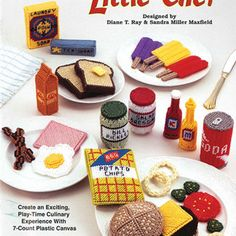 Plastic Canvas food patterns little chef
