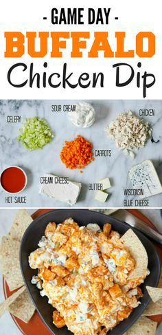 Easy Game Day Buffalo Chicken Dip