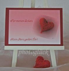 Karte Liebe Valentinstag Mein Herz gehört Dir von PHOTOGLÜCK auf DaWanda.com