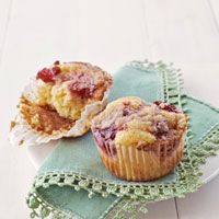 Cranberry-Streusel Corn Muffins from Country Living magazine. I haven't made them yet - I live in the Middle East now, so have to search for cranberries - but they look so good...