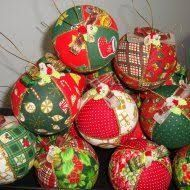 Resultado de imagen para bolinha de natal de patchwork