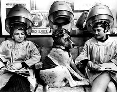 At the hair salon #bw black and white photography