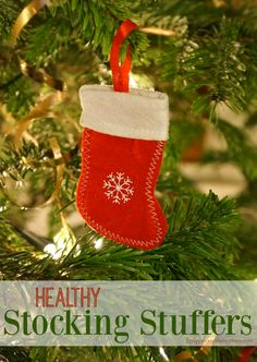 Healthy Stocking Stuffers - Stockings are often filled with loads of sugary treats. While we don't think a little bit is a problem, there are much more enjoyable gifts that can actually be healthy! #GiftIdeas #HealthyChristmas #HealthyHolidays