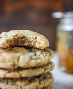 Peanut Butter Cookies with a Fig Preserves Swirl by @How Sweet Eats