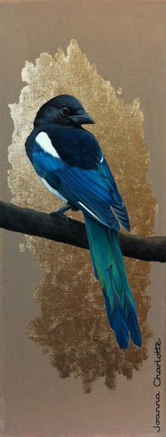 Magpie painting by Joanna Charlotte