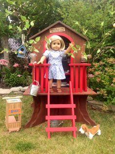 TreeHouse #AmericanGirlDoll #DIY