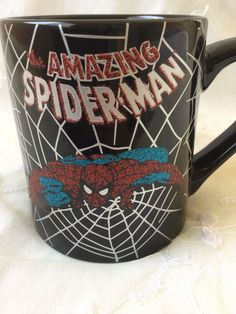 Amazing Spiderman Coffee Cup 20 oz Mug Marvel Comics Spider Web Action Hero New Men Coffee, Coffee Time, Coffee Cups, Kids Cartoon Characters, Cartoon Kids, Glitter Letters, Amazing Spiderman, Mug Cup, Xmas Gifts