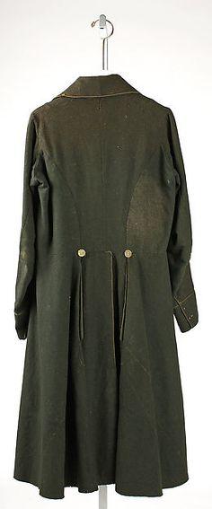 Coat Date: 1820s Culture: American Medium: wool