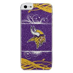NFL Minnesota Vikings Bling iPhone 55S Applique PurpleYellow *** Details can be found by clicking on the image.