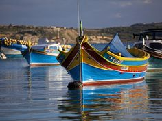 Malta, Europe, Colourful Traditional Maltese Boats known Locally as 'Luzzu' in the Village of Marsa Photographic Print by Ken Scicluna at AllPosters.com