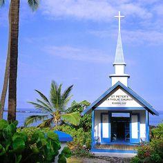 Saint Peter's Catholic Church in Kahaluu, Kona Coast, on the Big Island of Hawaii. c.