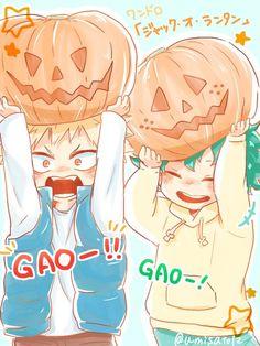 Halloween kawaii boku no hero boku no hero academia my hero academia Anime Halloween, Fete Halloween, Happy Halloween, Halloween Images, Manga Anime, Fanart Manga, Anime Art, Anime Boys, Boku No Hero Academia
