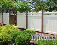 Brown Vinyl Privacy Fence illusions pvc vinyl fence photo gallery | pvc vinyl, privacy
