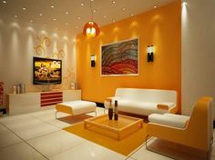 That image (living room minimalist living room color combination asian paints Colour Combination For Living Room By Asian Pai Living Room Color Combination, Living Room Color Schemes, Paint Colors For Living Room, Colour Schemes, Color Trends, Color Palettes, Paint Schemes, Living Room Orange, Colourful Living Room