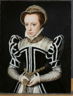 This painting, No. 198 in our collection, was, for many years, thought to be of Mary. This was reconsidered some time ago and set aside. It is now listed as: Flemish School, early 1570's.  A Portrait of a Lady in Black and White, erroneously once thought to be Mary Tudor.  Oil on panel. 30.5cm by 24.5cm