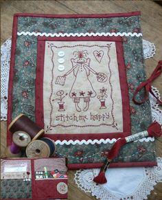 "Gail Pan Designs  ""Stitch me happy"" sewing folder"