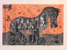Trojan Horse, Mythology, Horses, Art, Art Background, Kunst, Gcse Art, Horse, Words