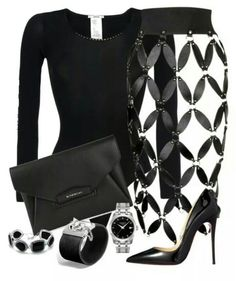 Unique black skirt that needs an inner!