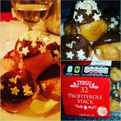 If you haven't had the Tesco profiteroles then give them a go!  I was given a voucher to try a dessert for free and these were delicious 🙂  They were really creamy with proper chocolate on top and the white chocolate stars added a great festive touch too!   #TriedForLess.
