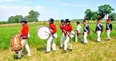 The reenactment of the Battle of Caulk's Field during the War of 1812.  Kent County, MD