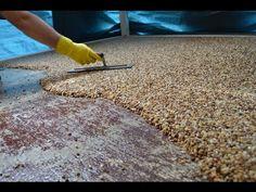 How-To Install Epoxy Natural Stone Flooring Concrete Patios, Concrete Floor Coatings, Concrete Porch, Concrete Floors, Concrete Resurfacing, Epoxy Floor Diy, Epoxy Floor Basement, Diy Epoxy, Garage Epoxy