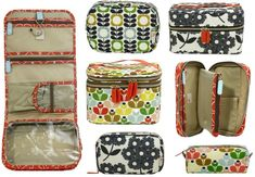 the CUTEST orla kiely cosmetic bags currently at target