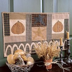 Create the perfect quilted home decor accent in honor of Autumn with our Pumpkin Patch Wall Hanging. This simple combination of checked, plaid, striped, and solid fabrics will take your decor all the way through Thanksgiving. Patterns and full instructions are included. Product Type: Digital Download #leisurearts #diyautumnwallhanging #autumn #pumpkinpatchwallhanging #bestonlineshoppingwebsites