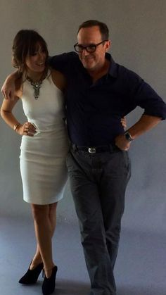 Clark Gregg  Rolling with the gorgeous @chloebennet4 @sdcc @ew #agentsofSHIELD