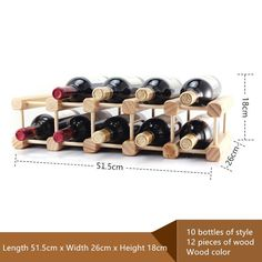 Free shipping Solid wood wine rack DIY wooden frame Wine fashion ornam - Daily Dollar Deals