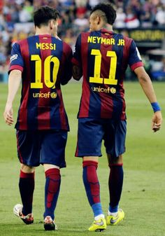 Best duo neymar .Jr and messi