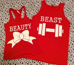 Beauty and the Beast Matching Couples Tshirts Red by TotulleeTutus, $30.00