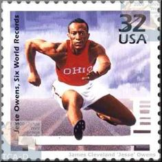 Jesse Owens from Alabama - winner of gold medal at the 1936 Olympics in Berlin, Germany.