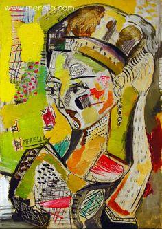 """TECHNIQUE and LIGHT Jose Manuel Merello.- """"Retrato de una Dama"""" Oil on table (2004-2006) Color and Shape. Spanish Contemporary Art. http://www.merello.com"""