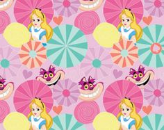 Disney Alice in Wonderland Cat Fabric From Springs Creative