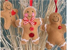 christmas decorations, gingerbread men, breads, felt ornaments, gingerbread ornament, families, gingerbread man, christmas trees, crafts