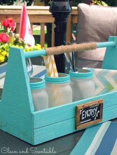 Picnic Caddy   DIY Backyard Projects To Try This Spring   DIY Projects