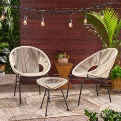 There's nothing quite like relaxing in the space of your own backyard whenever you want. With our club chair set, you can bring your outdoor space together with an effortlessly stylish flair. Our set is crafted to superior excellence that maintains a Metal Dining Table, Patio Dining, Patio Chairs, Outdoor Chairs, Outdoor Furniture Sets, Outdoor Decor, Outdoor Stuff, Lounge Furniture, Patio Table