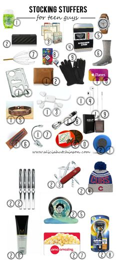 Teen guys can be hard to buy for. But, there's hope. I happen to have a teen guy and I did my research. Here's a ton of stocking stuffers for teen guys!