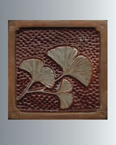 WHAT IT IS- Gingko Leaf tile, Accent tile/ handmade ceramic relief tile.  WHAT FOR- This tile is to install in your kitchen back-splash,