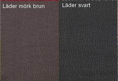 Läder Mörk Brun / Läder Svart Från Hovden Leather Dark Brown / Leather Black From Hovden