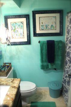 sea foam ocean bathroom; yep :)...love the color