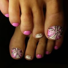 Amazing Tips For The Best Summer Nails – NaiLovely Feet Nail Design, Pedicure Nail Designs, Pedicure Nail Art, Toe Nail Designs, Manicure And Pedicure, White Pedicure, Pretty Pedicures, Pretty Toe Nails, Cute Toe Nails