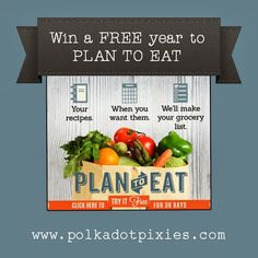 Plan to Eat.  Excited to try this program.  You put in your meals and it creates your shopping list.