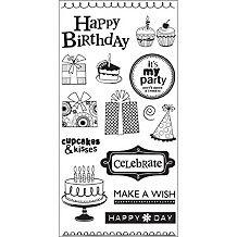 Hampton Art Kelly Panacci Clear Stamps - Happy Birthday