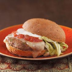 """""""Little Kick"""" Jalapeno Burgers Recipe from Taste of Home -- shared by Dawn Dhooghe, Concord, North Carolina  #quick  #under_300_calories"""