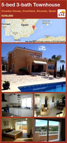 5-bed 3-bath Townhouse in Country House, Crevillent, Alicante, Spain ►€248,850 #PropertyForSaleInSpain